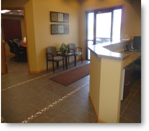 Photo of new foyer and conference room